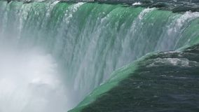 Niagara Falls, scenes of the flowing water stock footage