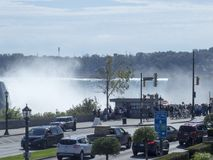 Niagara Falls, seen from the city of Niagara Falls, Canada Royalty Free Stock Image