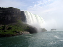 Niagara Falls shot from Maid of the Mist. View from Maid of the Mist boat Royalty Free Stock Photography
