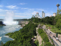 Niagara Falls and skyline from the Canadian side Stock Photography
