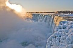 Niagara Falls - Sonnenaufgang Stockfotografie