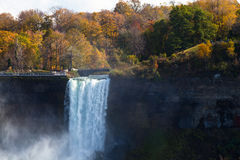 Niagara Falls Spray Autumn View Buffalo America Stock Photo