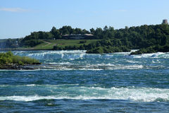 Niagara Falls State Park. Rainbow view from the Canadian side Stock Photo