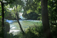 Niagara Falls State Park. Niagara River heading to the falls Stock Images