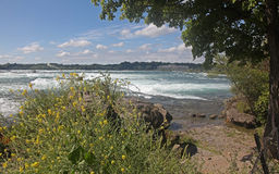 Niagara Falls State Park. Niagara River heading to the falls Stock Photo