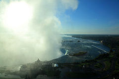 Niagara Falls State Park. View fromup above on the Canadian side early morning Royalty Free Stock Image