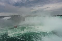 Niagara Falls in stormy weather Royalty Free Stock Images