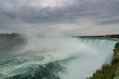 Niagara Falls in stormy weather Royalty Free Stock Photography