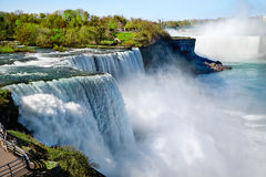 Niagara falls in the summertime Royalty Free Stock Images