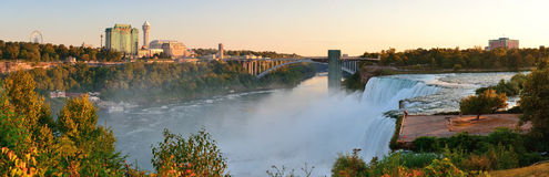 Niagara Falls sunrise panorama Royalty Free Stock Photos