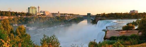 Niagara Falls sunrise panorama Royalty Free Stock Photos
