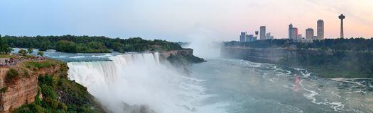 Niagara Falls sunrise panorama Royalty Free Stock Photography