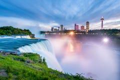 Niagara Falls at Sunset Royalty Free Stock Photography