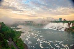 Niagara Falls Sunset royalty free stock images