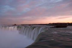 Niagara Falls at Sunset Royalty Free Stock Photos