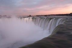 Niagara Falls at Sunset Royalty Free Stock Photo