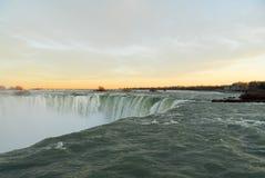 Niagara Falls at Sunset Stock Photography