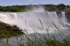 Niagara Falls 24th Juni: Förenta staternasida från Niagara Falls Arkivfoton