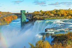 Niagara Falls. Are three waterfalls that straddle the international border between Canada and the United States royalty free stock photo