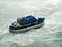 Niagara Falls and the tour boat Maid of the Mist Stock Image
