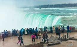 Niagara Falls Tourist Promenade Royalty Free Stock Images