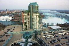 Niagara Falls u. Kasino Stockfotografie