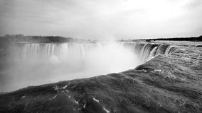 Niagara Falls. Under the cloudy sky stock photo