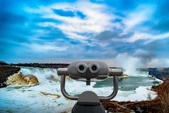 Niagara falls between United States of America and Canada. Niagara falls between United States of America and Canada Royalty Free Stock Photo
