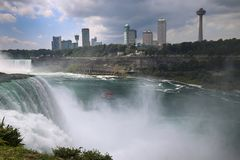 Niagara falls between United States of America and Canada from N. Ew York State, USA royalty free stock image