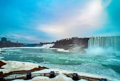 Niagara falls between United States of America and Canada. Niagara falls between United States of America and Canada Stock Photos