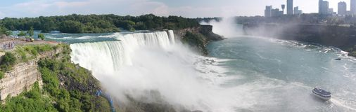 Niagara Falls. In US side royalty free stock photo
