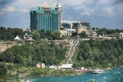 "Niagara Falls USA †""Augusti 29, 2018: Bautiful sikt av Niagara royaltyfri foto"