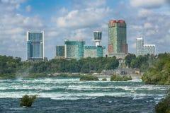 """Niagara Falls USA †""""Augusti 29, 2018: Härlig sikt av Niagar royaltyfria bilder"""