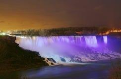 Niagara Falls USA. Night shot of Niagara Falls, American side Stock Photos