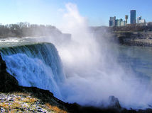 Niagara Falls, USA and Canadian side in background royalty free stock image