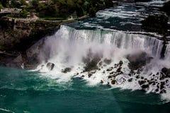 Niagara Falls USA Side from Skylon Tower royalty free stock photography