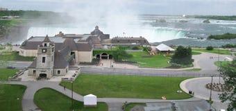 Niagara Falls. Very wide panorama of Niagara Falls, Canada stock photos