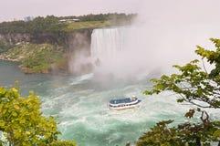 The Niagara Falls. A view of the Niagara Falls Royalty Free Stock Photos