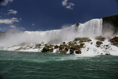 Niagara Falls. View of American Niagara falls from below Stock Images