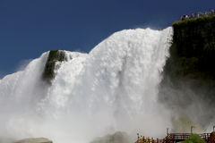 Niagara Falls. View of American Niagara falls from below royalty free stock photos