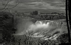 Niagara Falls,View of the American Falls. From the Canadian side of the border,a picture of the American Falls Stock Image
