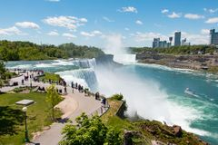 Niagara Falls view from american side royalty free stock photos