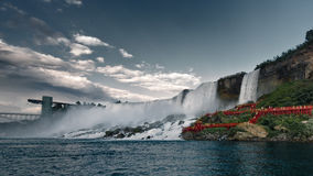 Niagara Falls, a view from the boat during the day Royalty Free Stock Photography