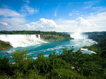 Niagara falls, view from Canada with a beautiful blue sky. Niagara falls, view from Canada Royalty Free Stock Image