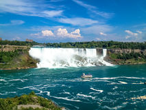 Niagara falls, view from Canada with a beautiful blue sky Stock Photo