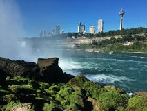 Niagara Falls. View om Niagara Fall from America site to Canada Stock Image