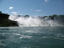 Niagara falls. View of Niagara falls from Ontario, Canada Stock Photo