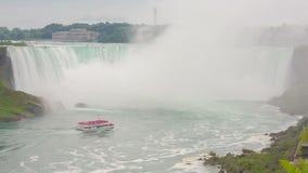 Niagara Falls view from Skylon Tower stock video