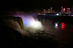 The Niagara falls , view from USA coast to Canada, USA Stock Photography