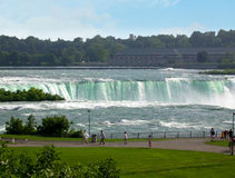 Niagara falls viewed from goat island. A view of niagara falls from goat island royalty free stock photos